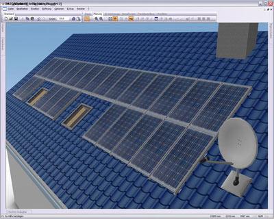 auslegung von photovoltaikanlagen in 3d auslegungssoftware pv anlagen solarstromanlage. Black Bedroom Furniture Sets. Home Design Ideas