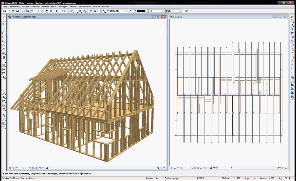 Holzrahmenbau eckverbindung  Holzbausoftware ] Ab sofort verfügbar: Allplan 2009 Holzbau ...